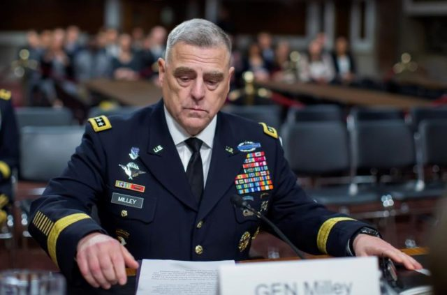 Jefe del Estado Mayor Conjunto de Estados Unidos, general Mark A. Milley.